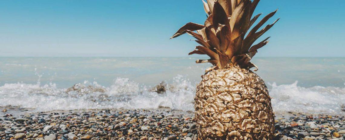 piña en el mar